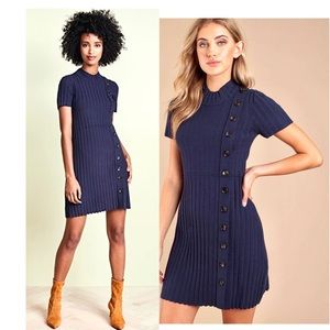 Free People Lottie Navy Dress BNWT